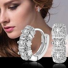 Mode romantique cubique Zircon conception de haute qualité 925 Sterling argent boucles doreilles boucle doreille pour les femmes mariage Mujer cadeau