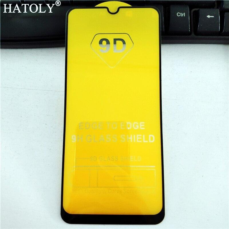 5D cristal completo de la cubierta del pegamento para Samsung Galaxy A50 Protector de pantalla de cristal templado para Samsung A50 película del teléfono para samsung A50