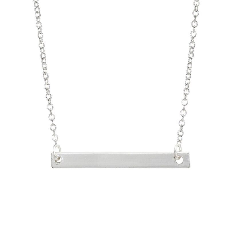 Jisensp, 10 Uds., collar de barra cuadrada, Simple, coreano, moda, Linda cadena larga, delicado colgante, venta al por mayor, collar de mujer N101
