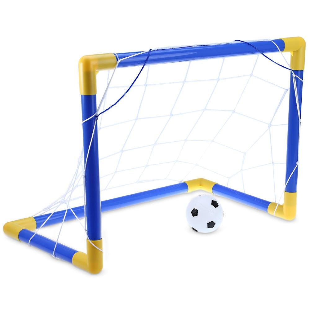Inflatable Mini Football Soccer Goal Post Net Set with Pump portable Mini Soccer Goal Set Toy Indoor Outdoor Kids Sport Toys