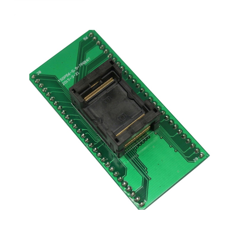 TSOP56-مقبس برمجة لـ 0.5 مللي متر ، مقاس رقاقة 14 × 18 مللي متر ، محول فلاش IC مفتوح من الأعلى