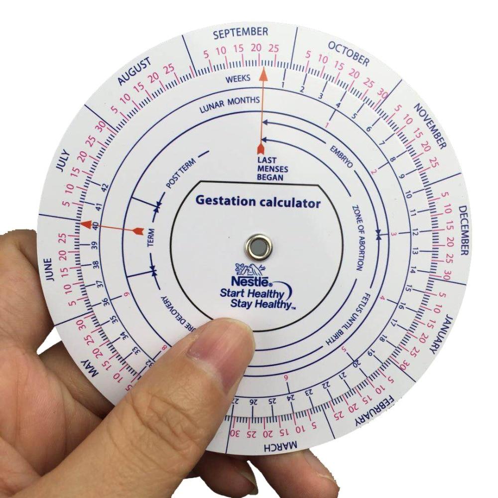 Gestation Calculator wheel pregnancy goniometer expected date of birth calculator
