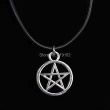 Vintage pentagramme collier pendentif religieux surnaturel collier juif bouclier étoile de David bijoux Satan charme meilleurs amis