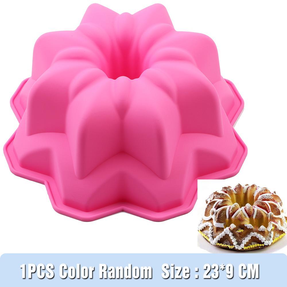 Nuevo molde de silicona para hornear, sartén redonda, sin BPA de 8 pulgadas, antiadherente, 3D, forma de Pan, Pizza, Pan DIY, cumpleaños, boda