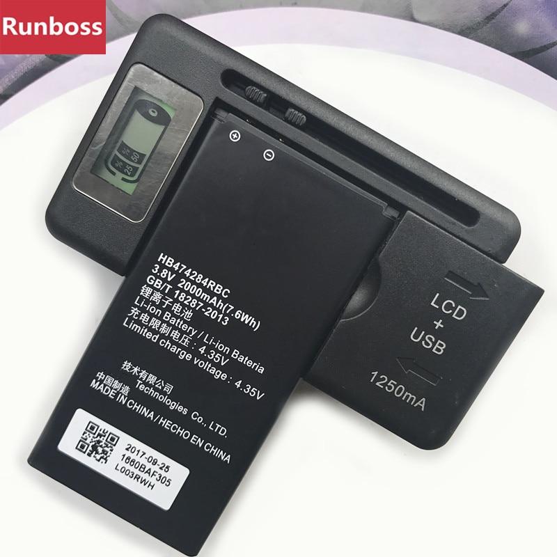 HB474284RBC batería para Huawei Honor 3C Lite C8816 C8816D G521 G615 G601 G620 Y635 Y523 Y625-U32 Y625 Y625-U51 con LCD cargador