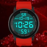 Mens Watches Fashion Waterproof Men Military Analog Digital Military Date Rubber Sport LED Wrist Watch Relogio Clock reloj Q513
