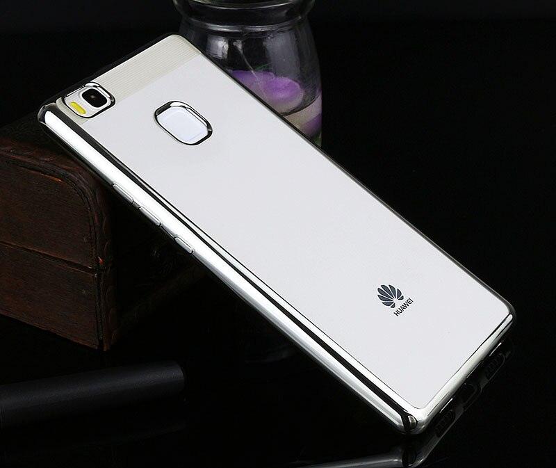 Poszycie telefon skrzynka dla huawei p9 lite pokrywa silikonowa ultra cienkie miękkie przezroczysty tpu tylna pokrywa dla huawei p9 lite luksusowe złota 8