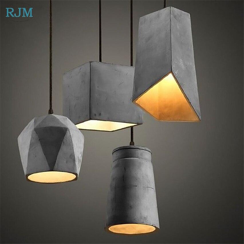 الأمريكية الرجعية الصناعي الاسمنت لغرفة الطعام غرفة المعيشة تركيبات الإضاءة مطعم بار شنقا مصباح داخلي