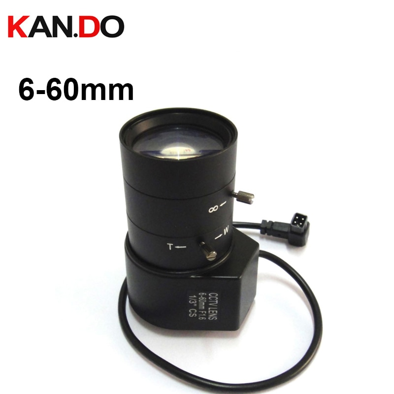 "1/3 ""CS IR 6-60mm lente CCTV apertura vari-focal Auto Iris para cámara de seguridad 60mm lente"