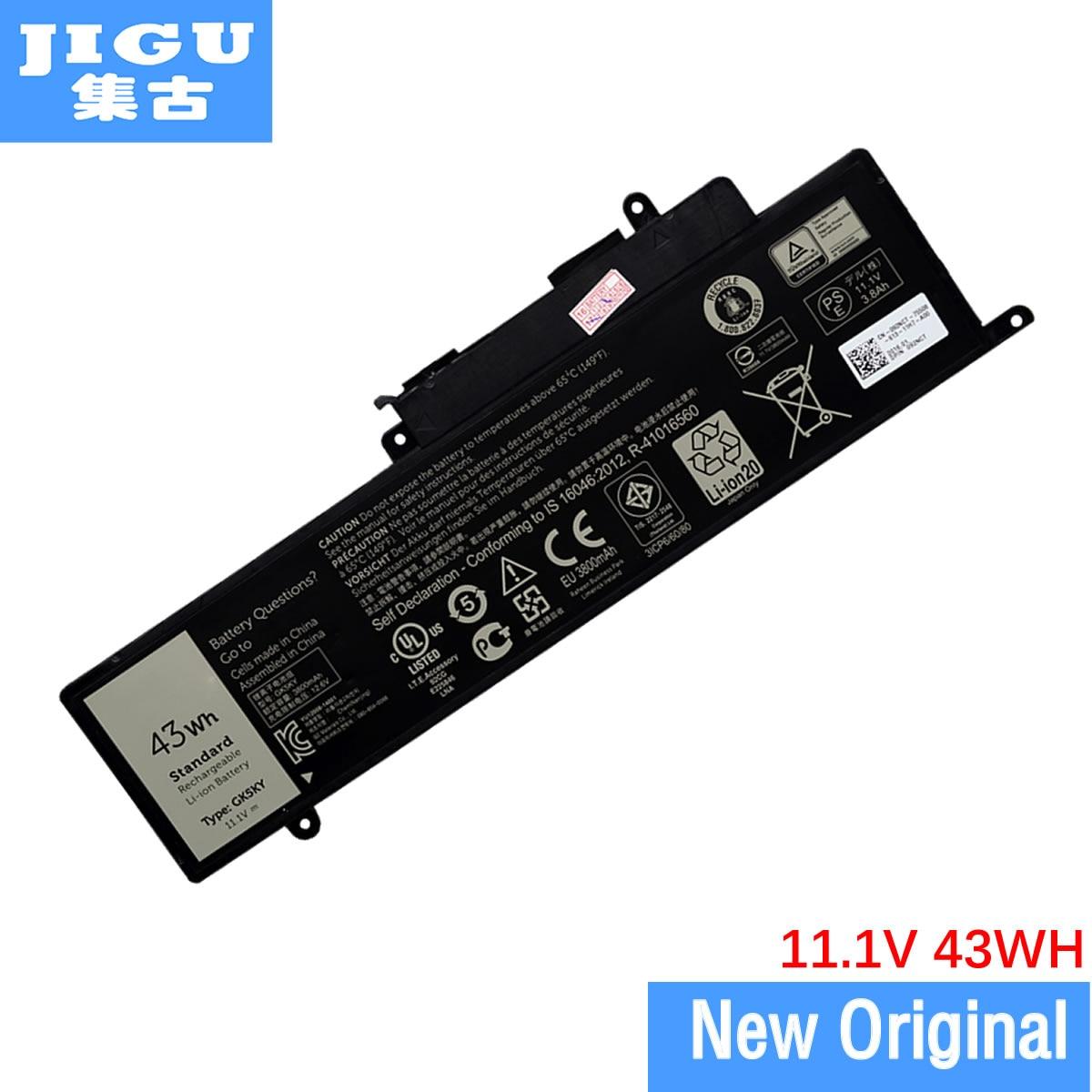 JIGU الأصلي بطارية كمبيوتر محمول لديل انسبايرون 13 7347 11 3147 15 7558 7348 GK5KY 04K8YH 31NP6/60/80 11.1V 43WH