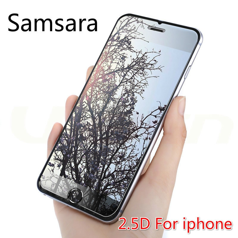 Samsara 2.5D Arc Tempered Glass for iphone 5 6 6S 7 8 Plus Glass Screen Protector For iPhone 6 7 8 X