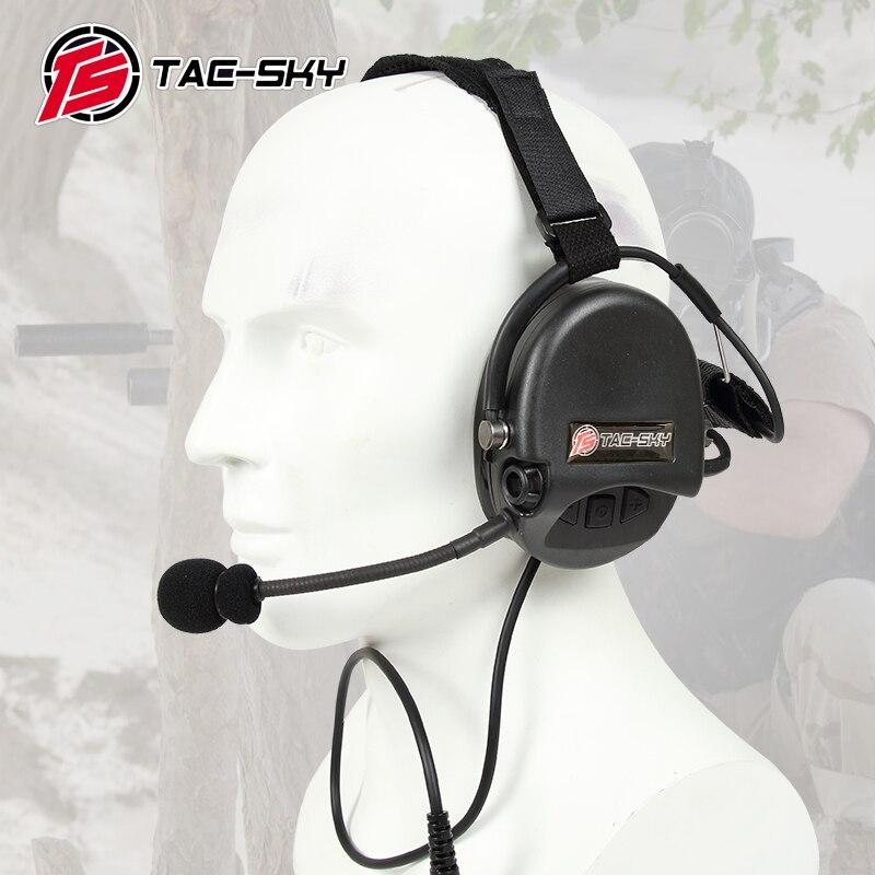 TAC-SKY TCI LIBERATOR II  SORDIN Silicone earmuff version Noise reduction pickup headset-BK