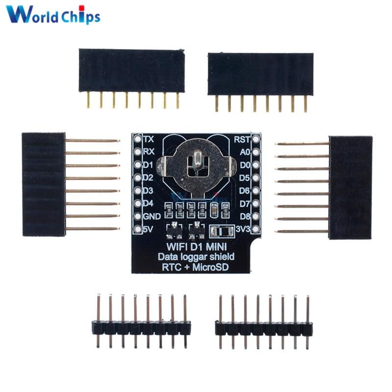 Micro SD для Wemos D1 Mini, в режиме реального времени, часы для регистрации данных, щит регистратора + RTC DS1307, часы для Arduino/Raspberry