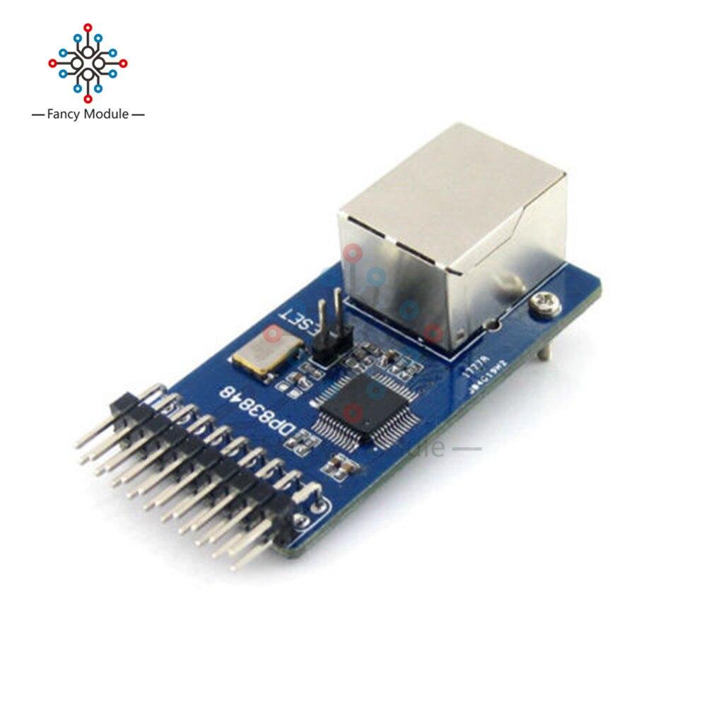 DP83848 Ethernet capa física transceptor RJ45 conector placa interfaz de control Kit incrustado Servidor WEB módulo RJ45