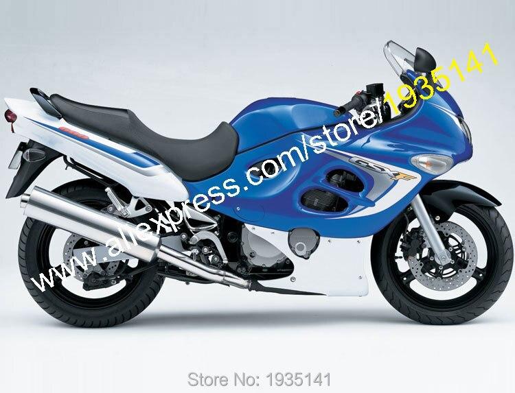 Para Suzuki Katana GSX600F GSX750F 05 06 GSX 600 F GSX 750 F 2005 2006 carrocería blanca azul carenados de motocicleta