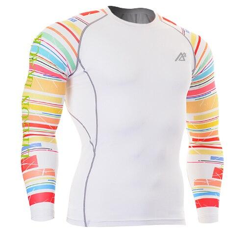 Camisetas blancas para correr para hombre, capa base para ciclismo, camisetas a rayas, ropa para trotar, levantamiento de pesas