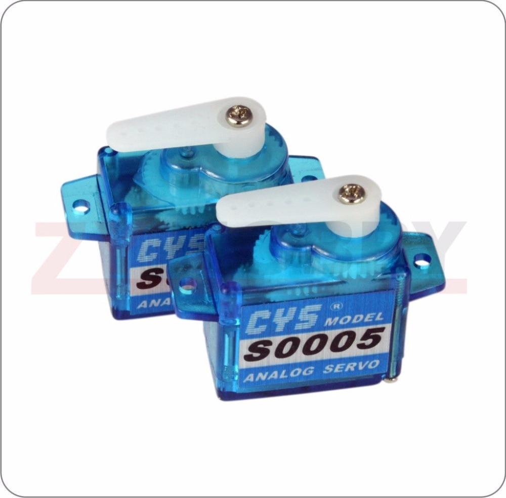 2X CYS-S0005 5g Plastic Gear Micro Servo 21.5x11.8x20.9mm For RC Plane Boat Car