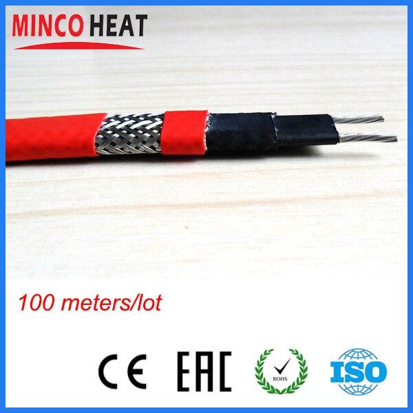 100 medidores anti-corrosão bainha freeze proteção e degelo auto que regula o cabo de aquecimento 25 w/m