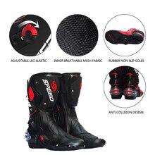 PRO-motard vitesse motards Moto bottes Moto course Motocross tout-terrain Moto chaussures noir/blanc