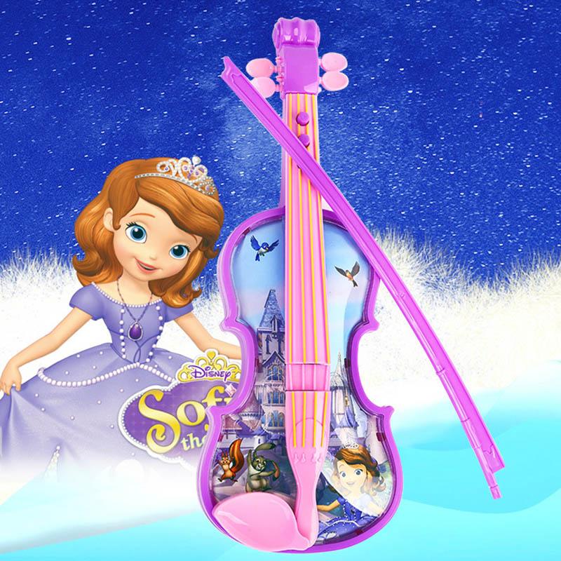 Disney Princess Sophia violin Toy Musical Instrument Violin Sophia Magic Learning Education toys for kids gift
