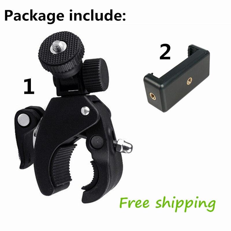 Soporte de trípode para bicicleta 2 en 1, soporte para lebar y teléfono móvil, tamaño grande 360 para Gopro Hero 3, binoculares de HeroMount