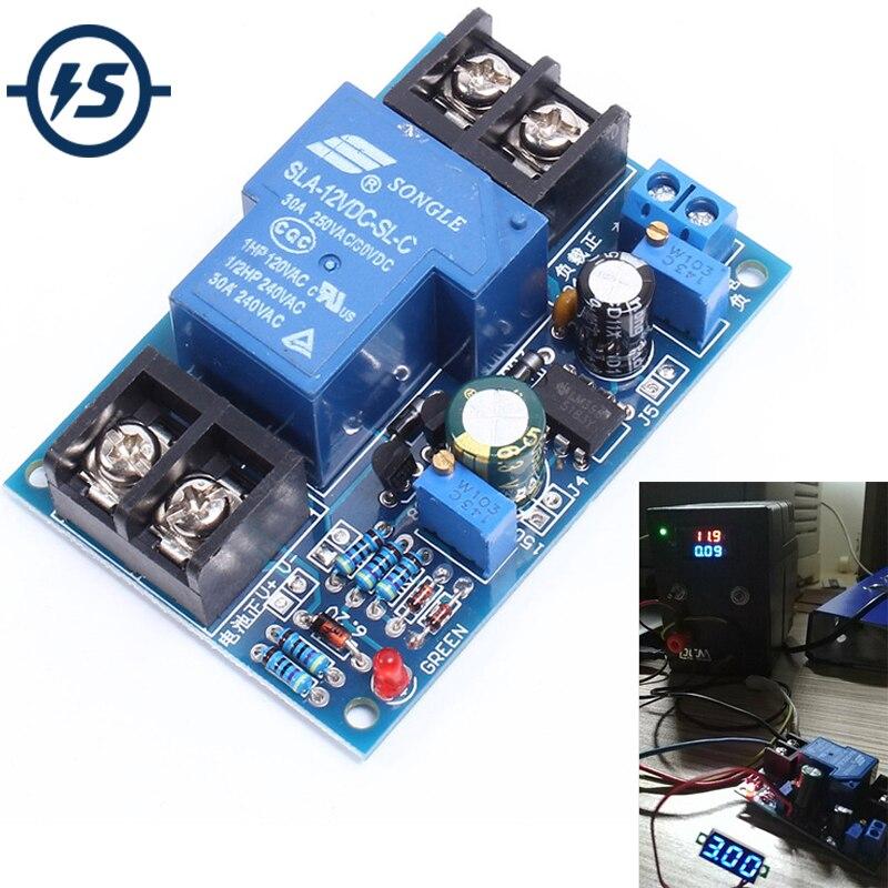 Модуль защиты от разрядки батареи, 12 В, автоматическое восстановление низкого напряжения со светодиодным индикатором