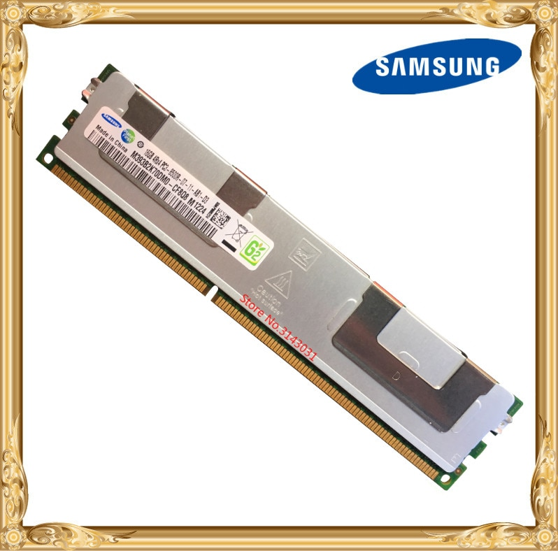 Samsung memoria de servidor DDR3 GB 16GB 1066MHz 32GB ECC REG registro DIMM PC3-8500R RAM 240pin 8500 16G 4Rx4