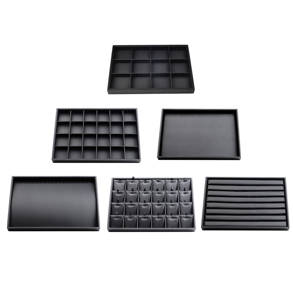 Multifunction Jewelry Tray Showcase Display Organizer Holder for Earrings Necklace Bracelet серьги