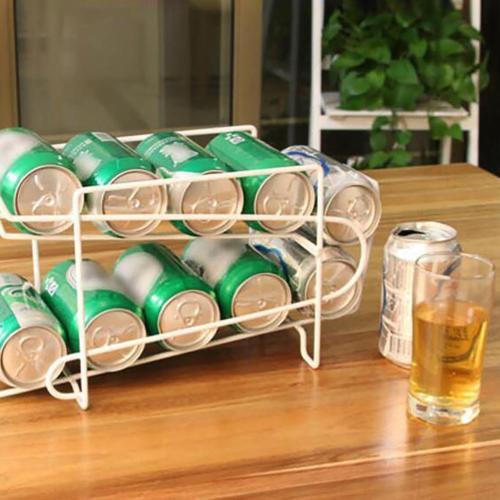 Guardar almacenamiento cerveza bebida doble dispensador de Soda soporte de estante organizar almacenamiento refrigerador bebida