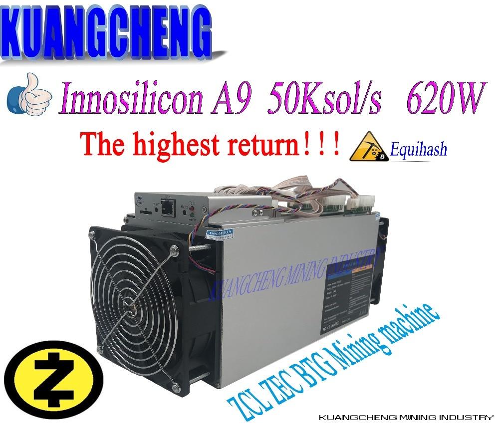 Майнер Innosilicon Equihash A9 ZMaster, новый интеллектуальный Майнер asic 50 K/s, 90% Вт, Zcash, BTG, лучше чем antminer z9, S9, T9, 620