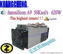 Ancien 90% nouveau Innosilicon Equihash A9 ZMaster asic mineur 50 K/s 620 W Zcash BTG mineur Intelligent mieux que antminer z9 S9 T9 mineur