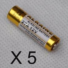 5 pièces 27A 12 V pile alcaline sèche 27AE 27MN A27 pour sonnette, alarme de voiture, baladeur, télécommande de voiture etc.