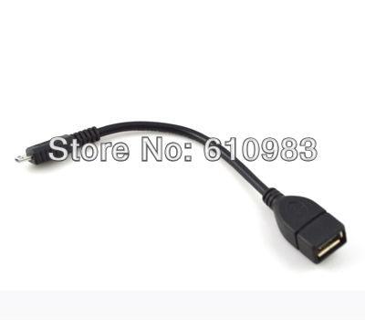 (5 unids/lote) Micrp 5 pin macho a OTG hembra cable de datos de host para GALAXY GS2 GS II I9100 MOTO XOOM TG01