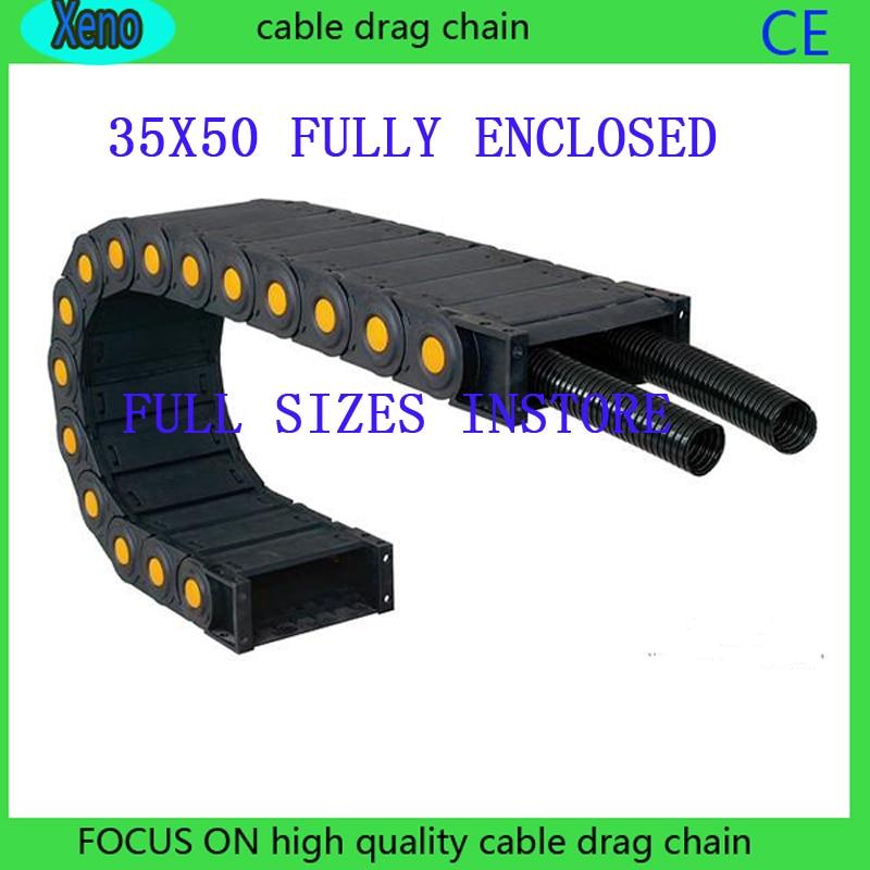 Envío Gratis 35x50 1 metro cadena transportadora de plástico de tipo cerrado