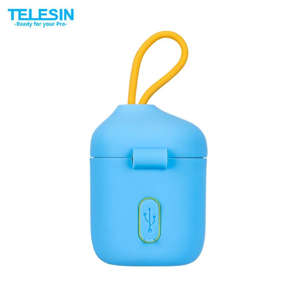 Caja de almacenamiento TELESIN ALLIN 3 en 1 cargador Dual lector de tarjetas SD + 2 uds NPW50 batería para A6000, A6500, A6300 accesorios de cámara