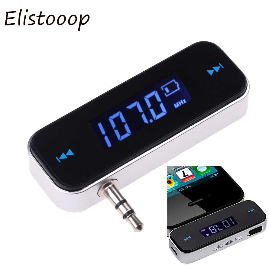 Elistooop 3.5mm jack Mini adapter bezprzewodowy samochodowy zestaw głośnomówiący radio muzyczne MP3 FM nadajnik dla iPhone dla Huawei dla Samsung