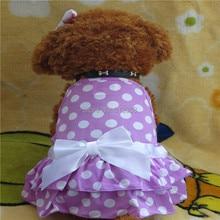 Tanpgna Pet Dress Dog Sundresses Pet Clothes Dog Summer Vest Purple Spots