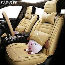 KADULEE car seat covers For Skoda Octavia Fabia Superb Rapid Yeti Spaceback Joyste Jeti auto accessories car sticker car seats