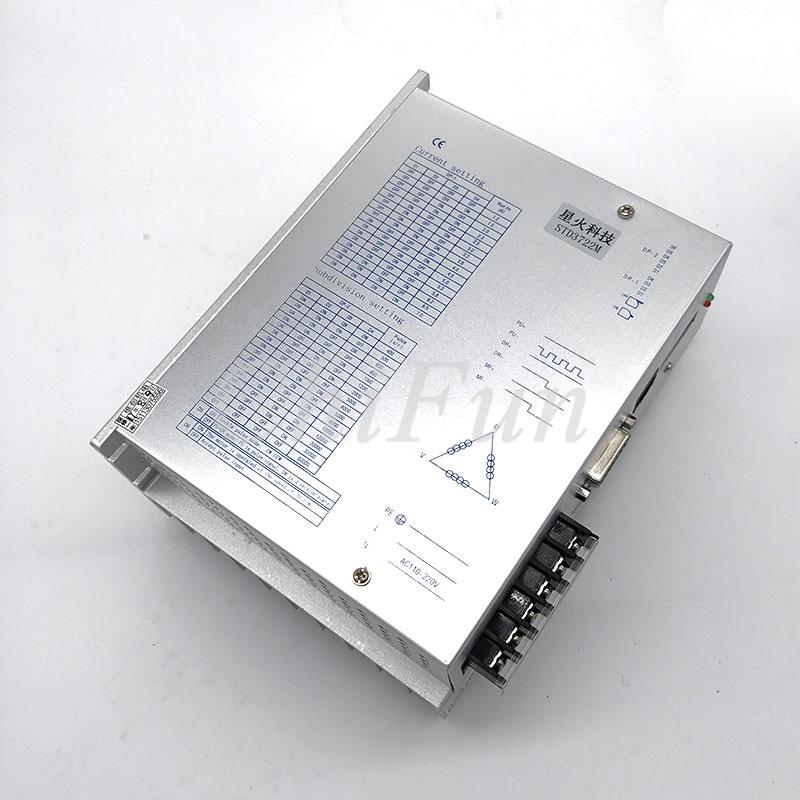 Digital de tres fase 110/130 controlador de motor STD3722M 7A AC110-220V 60000 pasos/A