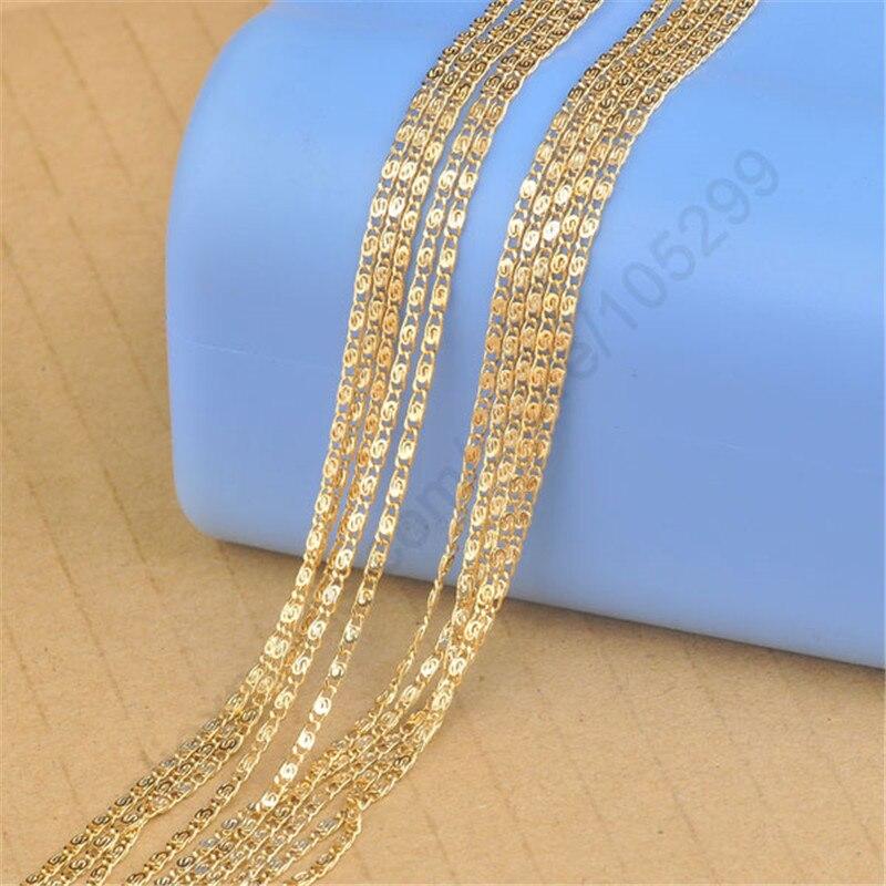 Бесплатная-быстрая-доставка-5-шт-партия-20-дюймов-желтое-золото-ювелирное-изделие-плоская-s-образная-цепочка-для-ожерелья-с-подвеской