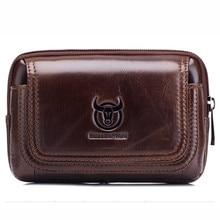 Marsupio in vera pelle marsupio da uomo cintura marsupio marsupi per uomo Mini Multi Phone Box portafoglio e borsa porta monete per esterno