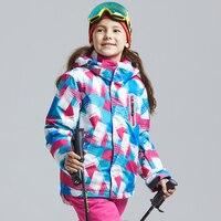 Boy Girls Winter Thermal Snowboarding Jacket Children Professional Waterproof Warm Camping Hiking Jacket Kids Thick Ski Jacket
