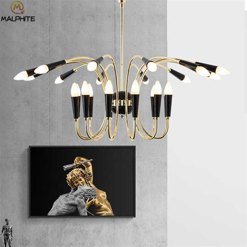 Candelabro moderno lustre iluminación candelabro colgante de cristal candelabro luminaria Decoración Para sala de estar accesorio de iluminación