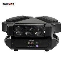 2 pcs/lot lumière Disco 9x10w 4in1 3 têtes Mini LED araignée tête mobile éclairage de scène grand effet DMX512 DJ équipement barre lumières