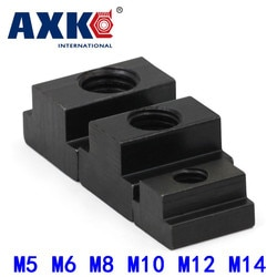 5 Pcs M5 M6 M8 M10 M12 M14 DIN508 Schwarz Oxid Finish Grade 8,8 Carbon Stahl T-Slot Mutter abgegriffen Durch Slot T-muttern Möbel HW113