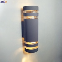IWHD תאורה חיצונית אור הקיר חיצוני עמיד למים עבור הגינה מרפסת מרפסת מנורת קיר חיצונית החיצוני Luminaire מחוץ