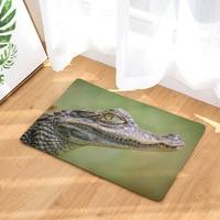 CAMMITEVER Crocodile Rug Mat Carpet Pad Anti-Slip Area Rugs Washable Bedroom Home Decor