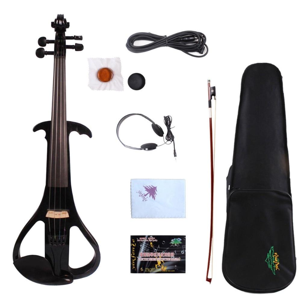 Accesorios de ébano de madera maciza Viola eléctrica de 16 pulgadas profesional buen sonido con arco de la caja de la Viola 3 colores