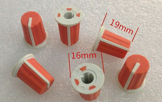 مقياس جهد نصف محور برتقالي ، 100 قطعة ، مقبض مطاطي/مؤشر 90 درجة ، خلاط ، جهاز ، أداة ، مقبض تعديل 16 × 19 مللي متر