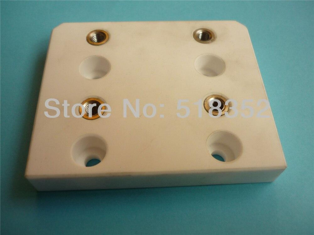 Placa de aislamiento de cerámica Accutex LT302, placa de aislamiento/aislamiento inferior L76mmx W64mmx T12mm para WEDM-LS piezas de máquina
